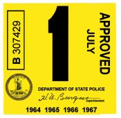 1964-67 Virginia INSPECTION Sticker