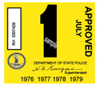 1976-79 Virginia INSPECTION Sticker