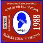 1988 ViA Fairfax centennial sticker