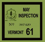 1961 Vermont SPRING inspection