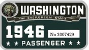 1946 Washington registration inspection Sticker