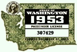 1953 Washington State Registration
