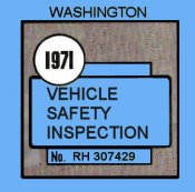 1971 Washington inspection sticker