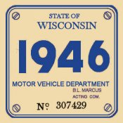1946 Wisconsin inspection sticker