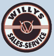 Willys sales-service sticker