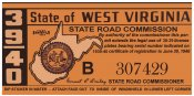1939-40 West Virginia registration/inspection
