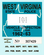 1962-63 WV Inspection Sticker