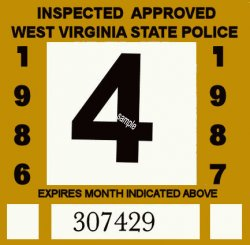 1986-87 West Virginia Inspection