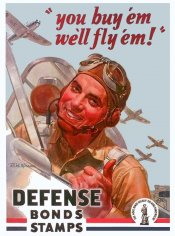 1941 You Buy em We'll Fly em War Bond sticker