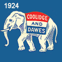 1924 Coolidge & Dawes Sticker