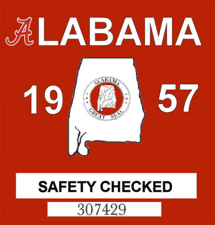 1957 Alabama Safety Checked