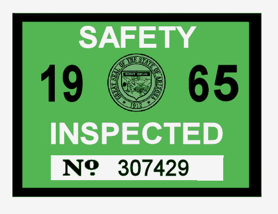 1965 Arizona Inspection Sticker