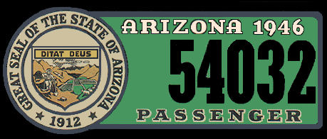 1946 Arizona Registration/Inspection Sticker