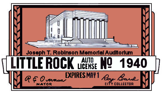 1940 Arkansas Registration Sticker Little Rock