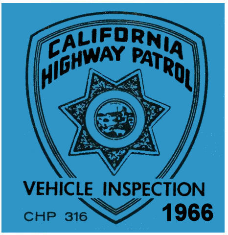 1966 California Inspection Sticker