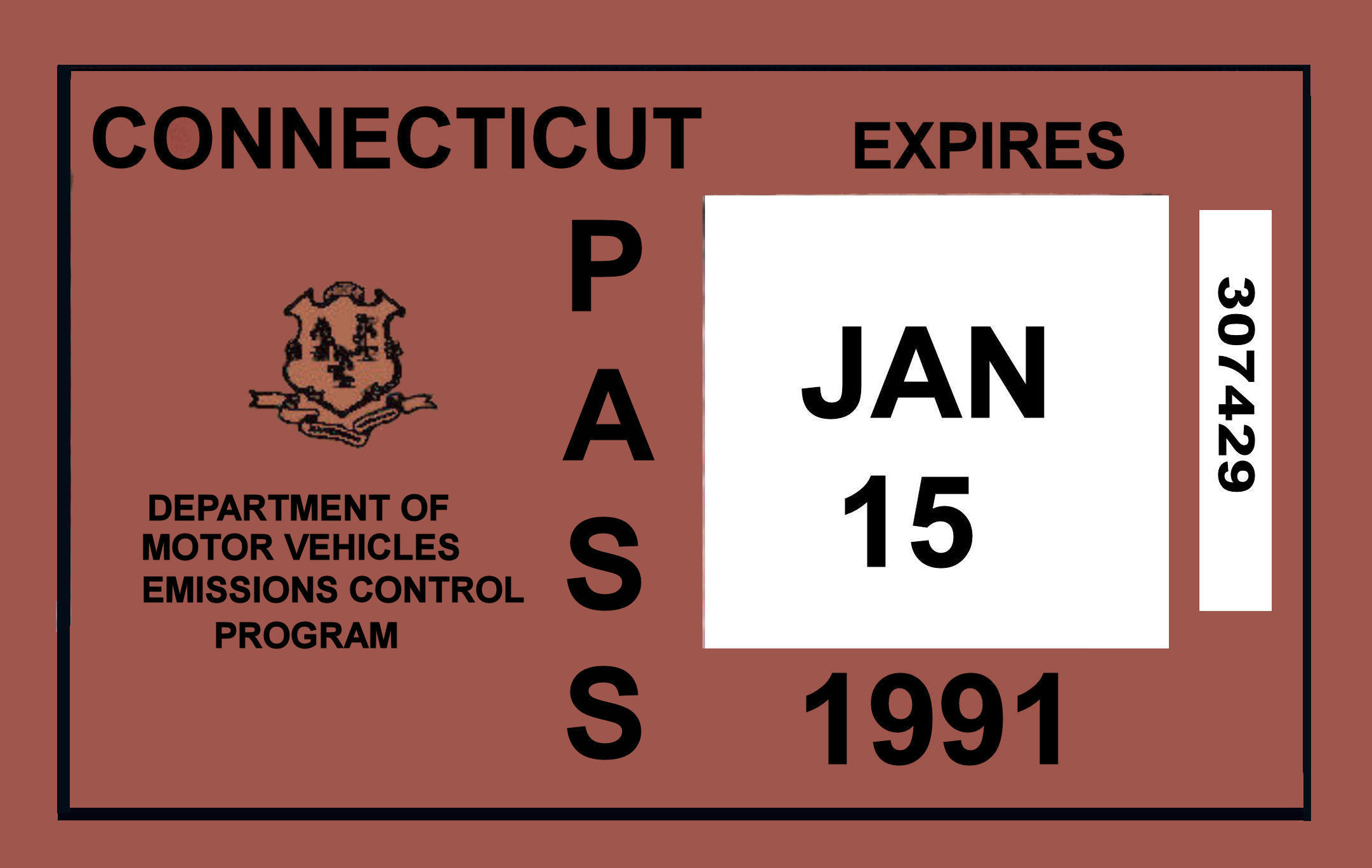 1991 Connecticut InspectionInspection