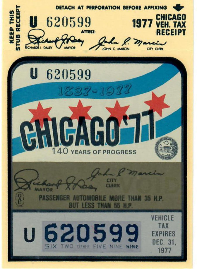 1977 Illinois Tax Inspection CHICAGO