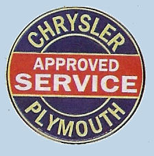 Chrysler Approved Service (Plymouth) sticker