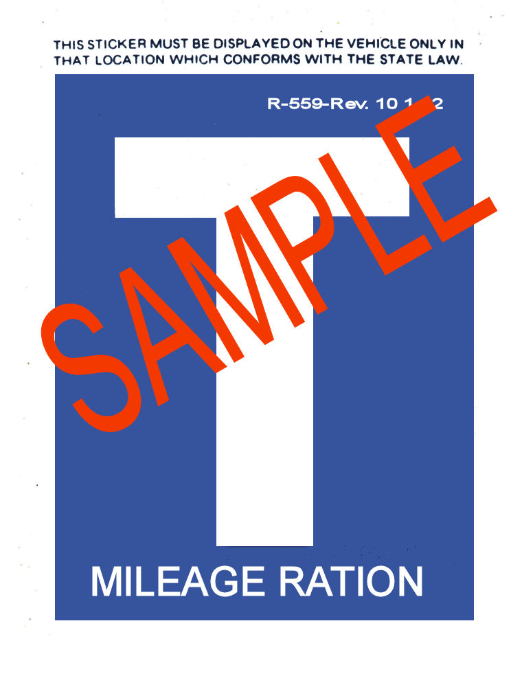 1942 Gas Ration Sticker T