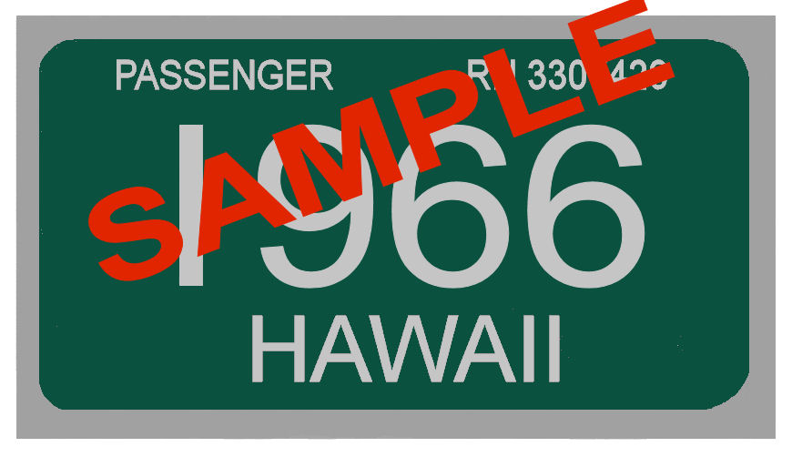 1966 Hawaii Inspection Sticker