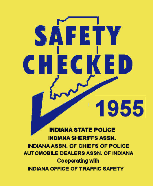 1955 Indiana Safety Check Inspection sticker
