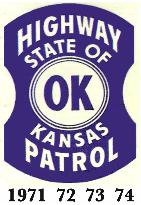 1971-1974 Kansas Inspection Sticker