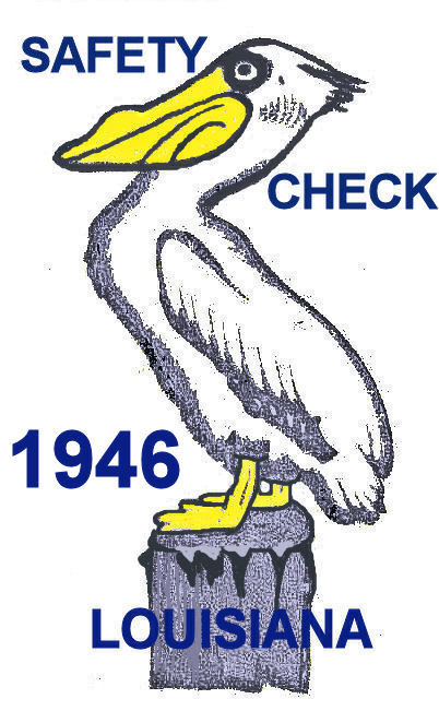 1946 Louisiana Safety check Inspection sticker