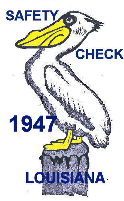 1947 Louisiana Safety Check inspection sticker