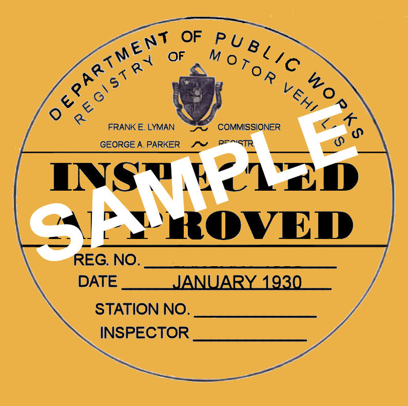 Graphic: State Inspection Sticker