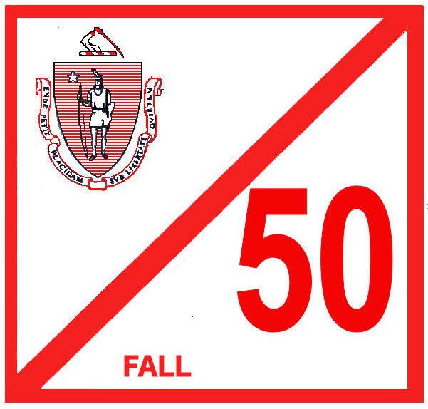 1950 Massachusetts FALL INSPECTION Sticker