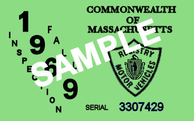 1969 Massachusetts Fall ORIGINAL Inspection sticker