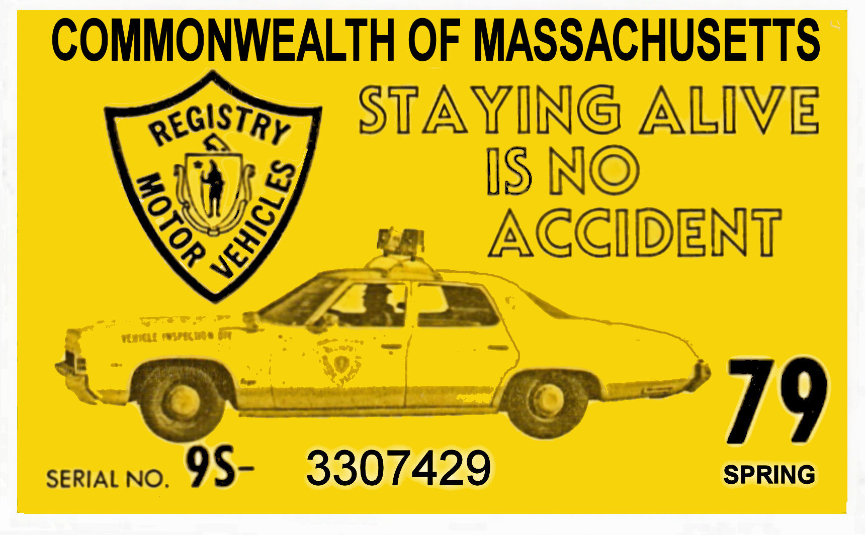1979 Massachusetts SPRING INSPECTION Sticker
