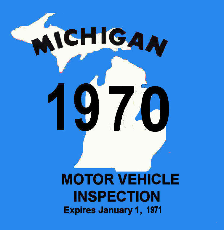 1970 Michigan inspection sticker