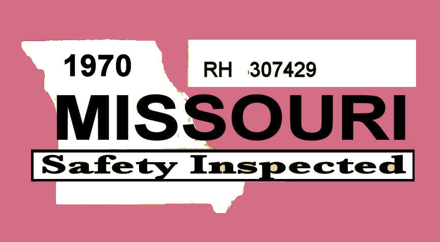 1970 Missouri inspection