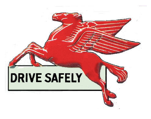 Mobilgas Pegasis Flying Horse Sticker