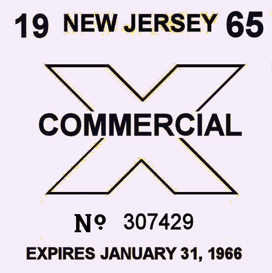1965 New Jersey inspection sticker TRUCK