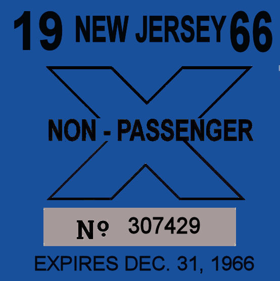1966 New Jersey Inspection sticker TRUCK