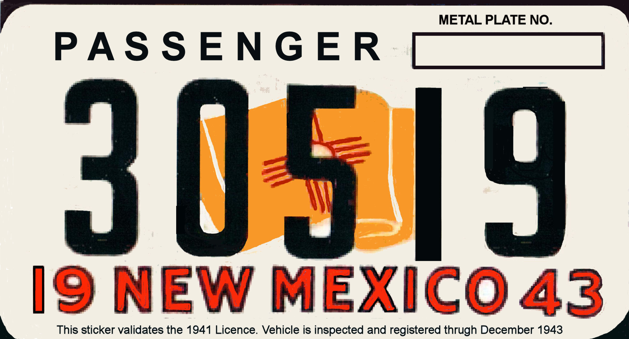 1943 New Mexico Registration