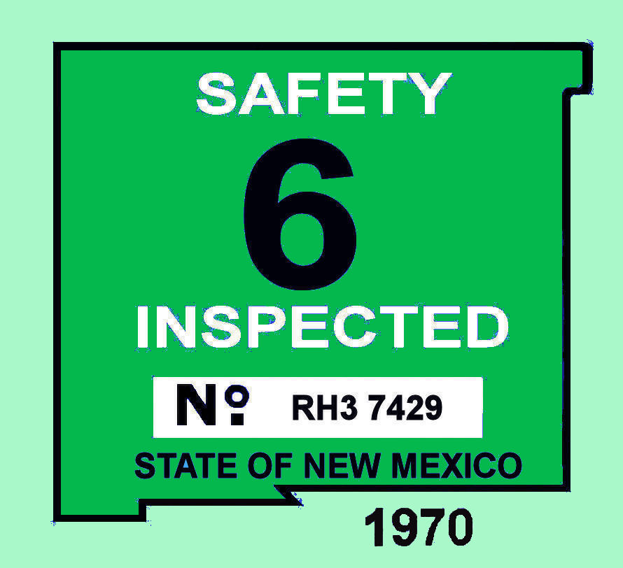 1970 New Mexico inspection sticker