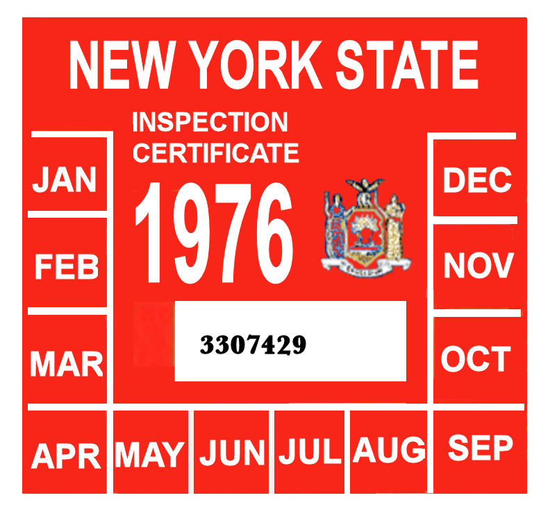 NYS Police Discovering More Counterfeit Car Inspection Stickers