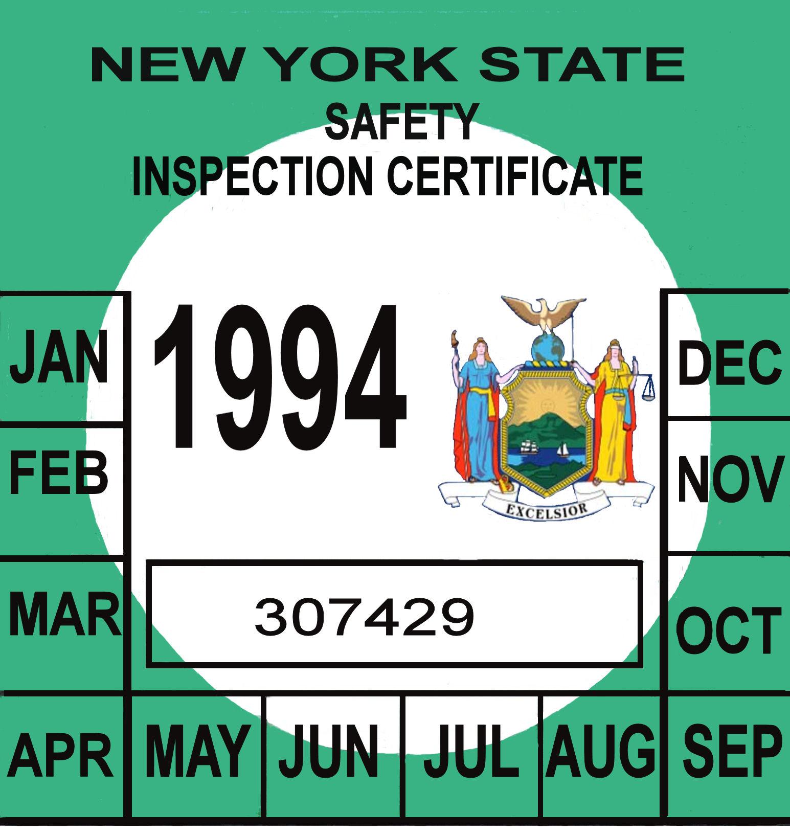 1994 NY inspection sticker