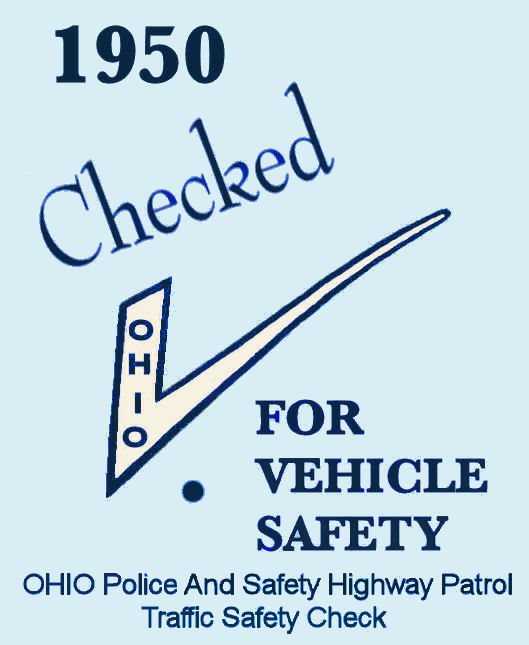 1950 Ohio INSPECTION Sticker