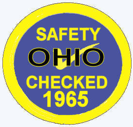 1964 Ohio Safety Check Inspection Sticker