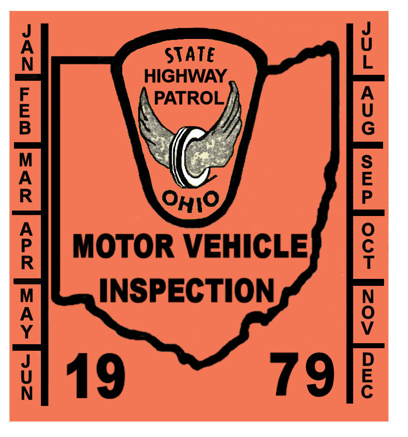 1979 Ohio INSPECTION Sticker