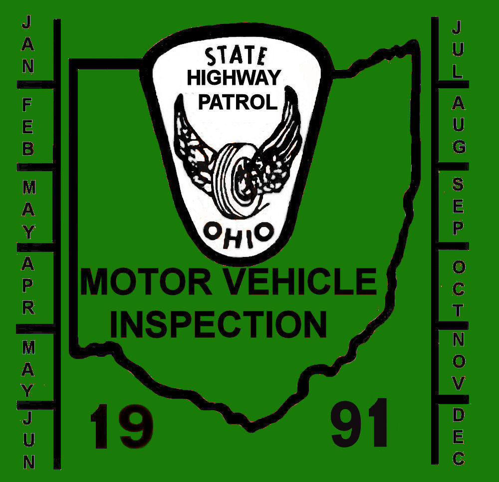 1991 Ohio inspection sticker