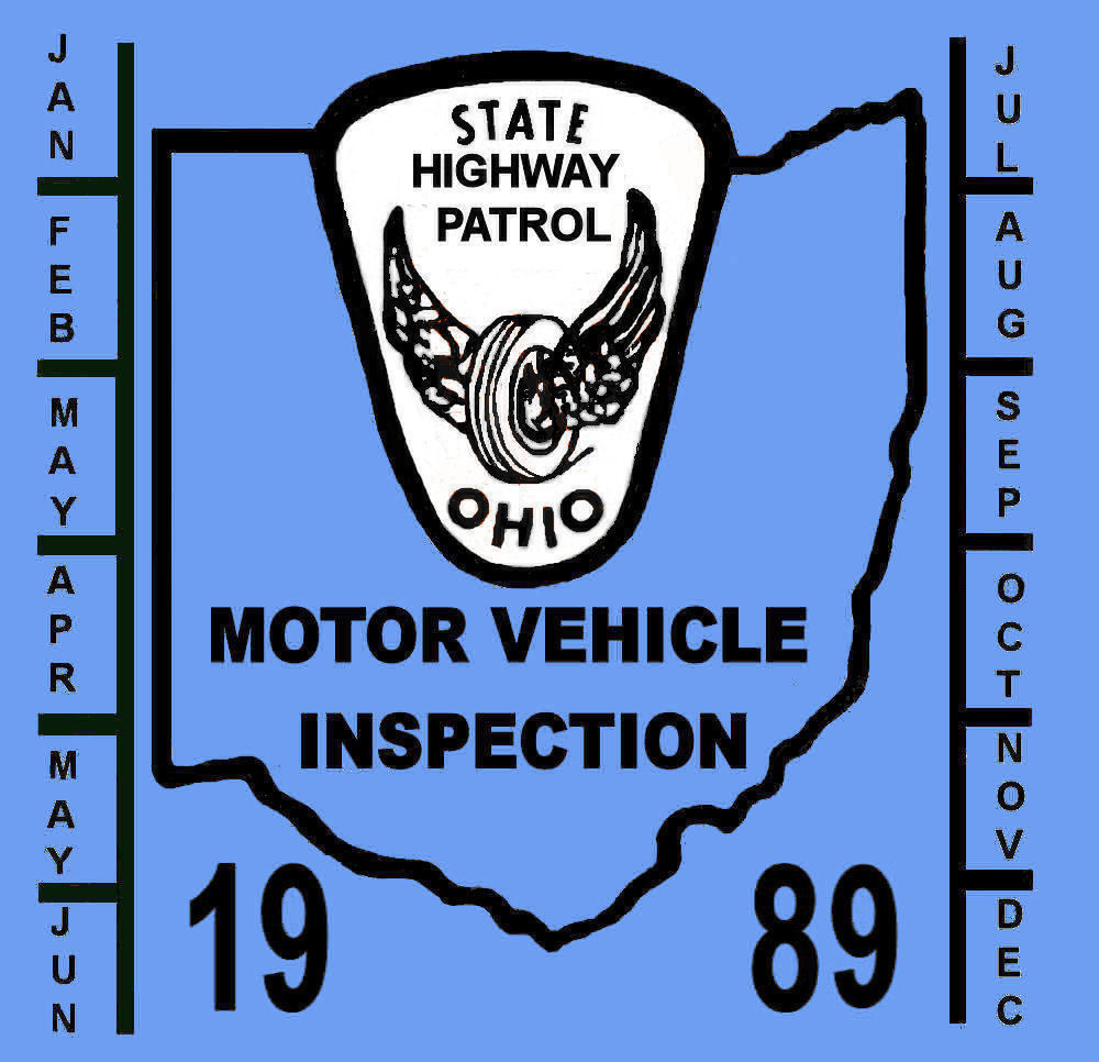 1989 Ohio inspection sticker