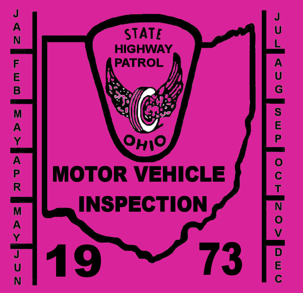 1973 Ohio INSPECTION Sticker