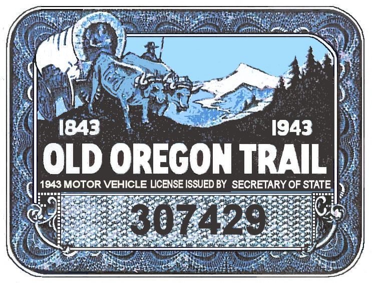 1943 Oregon Registration Sticker