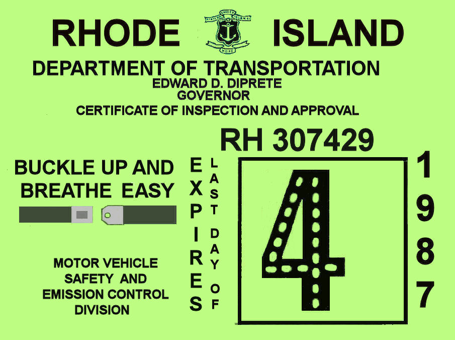 1987 Rhode Island Inspection