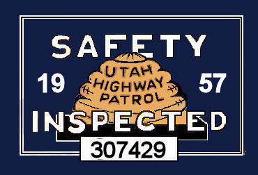 1957 Utah Inspection sticker